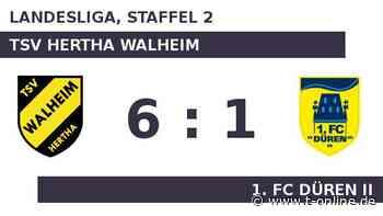 TSV Hertha Walheim gegen 1. FC Düren II: Dollhopf trifft: Walheim deklassiert FCD - t-online.de