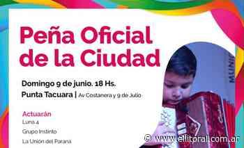 Folclore y danza en la punta Tacuara con la Peña oficial de la ciudad - Diario El Litoral