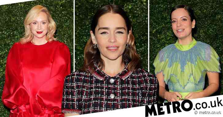 Emilia Clarke, Lily Allen and Gwendoline Christie lead the stars at pre-BAFTA party