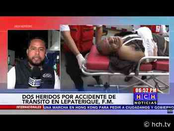 Dos heridos deja accidente de pick up en #Lepaterique, FM - hch.tv