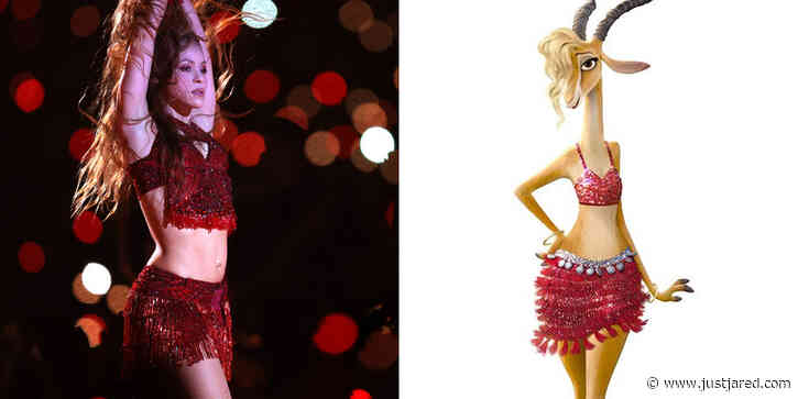 Shakira's Super Bowl Outfit Was the Same as Her 'Zootopia' Character's Outfit!