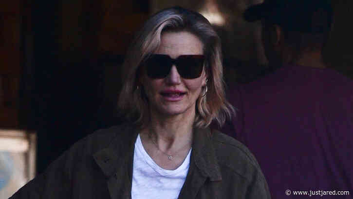 New Mom Cameron Diaz Shows Off Shorter Hair While Grocery Shopping