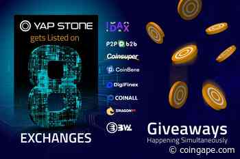 Yap Stone Gets Listed on 8 Exchanges, Giveaways Happening Simultaneously - Coingape