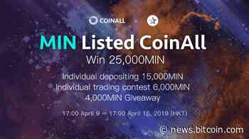 PR: CoinAll lists MINDOL and Offers a 25000 MIN Giveaway - Bitcoin News