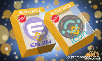 Enjin (ENJ), ICON (ICX) Lands Price-Boosting Listing on Binance.US - BTCMANAGER