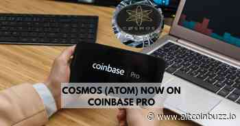 Coinbase Pro Adds Support for Cosmos (ATOM) - Business Partnerships - Altcoin Buzz