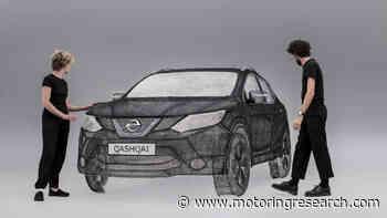 Qash converter: Nissan creates world's largest 3D pen sculpture - Motoring Research