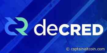 Decred (DCR) - The sleeper hit of 2018 and a long-term hold for the patient investors - CaptainAltcoin