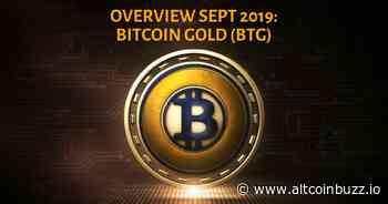 Bitcoin Gold (BTG): September 2019 - Altcoin Projects - Altcoin Buzz
