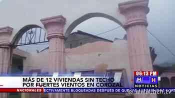 Más de 12 viviendas destruidas por fuerte tornado en Corozal, #LaCeiba - hch.tv