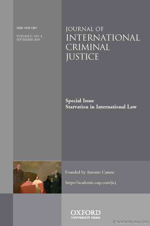 ForewordSpecial Issue on Starvation in International Law