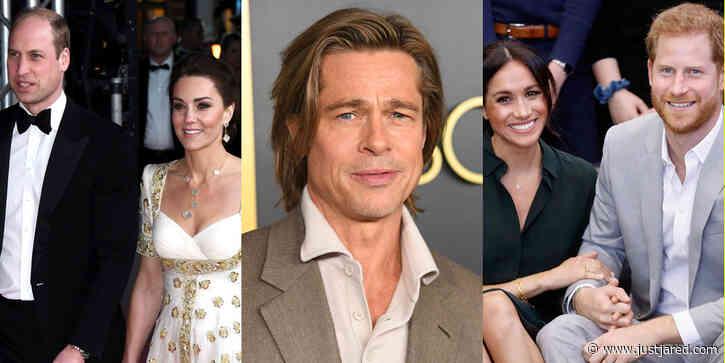Kate Middleton & Prince William React to Brad Pitt's Joke About Prince Harry's Royal Exit
