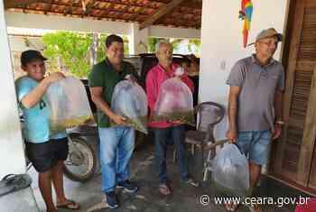 24 de janeiro de 2020 Projeto de Peixamento leva 100 mil alevinos para Aracoiaba e Chorozinho - Ceará