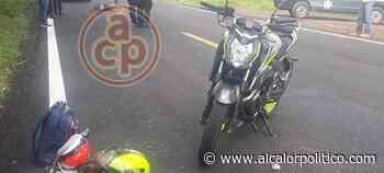 Vehículo no identificado arrolla a pareja en motocicleta, en Santiago Tuxtla - alcalorpolitico