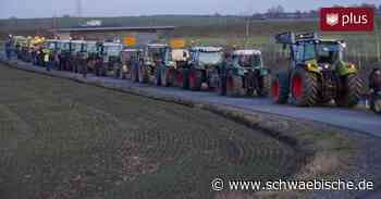 """""""Traktoren-Flashmob"""": So geben Landwirte in Herbertingen ihren Forderungen Nachdruck - Schwäbische"""