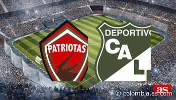 Patriotas vs Deportivo Cali en vivo y directo, Liga BetPlay I 2020 - AS Colombia