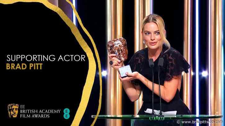 Brad Pitt Wins BAFTA Supporting Actor Award!