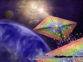 Beam Rider: Neue Technologie hält Lichtsegel-Raumschiffe auf Kurs zu Exoplaneten - grenzwissenschaft-aktuell