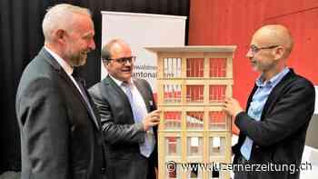 Der OKB-Neubau ist aus «gutem Holz geschnitzt» | Luzerner Zeitung - Luzerner Zeitung
