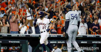For the Yankees, Astros' Punishment Brought Anger and Vindication