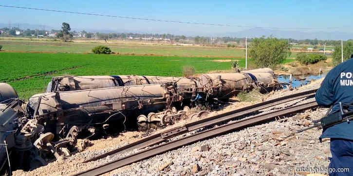 Se descarrila tren en zona limítrofe entre de Tula y Atitalaquia - Criterio Hidalgo