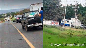 SSP mantiene operativo tras bloqueo en carretera Apatzingan-Aguililla - MiMorelia.com
