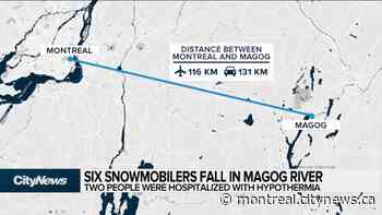 Six snowmobilers fell in Magog River - CityNews Montreal