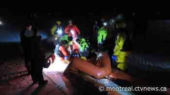 Six snowmobilers narrowly avoid tragedy on Magog Lake - CTV News