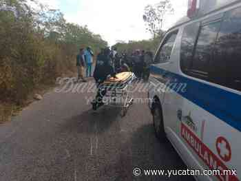 Adolescente derrapa en una motocicleta en carreteta Ekmul-Tixkokob - El Diario de Yucatán
