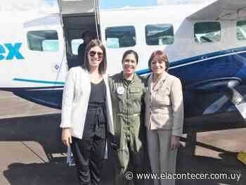 Ex jefa del aeropuerto de Santa Bernardina estuvo presente en el vuelo inaugural - El Acontecer Diario