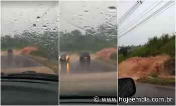Vídeo: 'cachoeira' provocada por temporal assusta motoristas na MG-040, em Sarzedo - Hoje em Dia