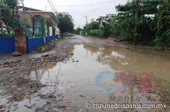Calle inundada obstruye paso a Clínica Santa Bárbara - Noticias en Puerto Vallarta - Tribuna de la Bahía