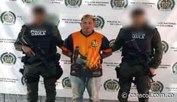 Capturan en Montelíbano a alias 'El Torero', integrante de Los Caparros - Caracol Radio