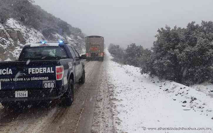 Cierran carretera Janos-Agua Prieta por caída de nieve - El Heraldo de Chihuahua