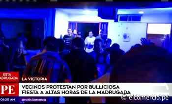 Vecinos protestan por ruidos molestos durante fiesta en urbanización Santa Catalina - El Comercio - Perú