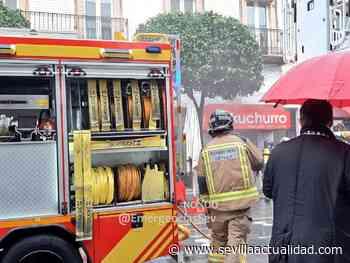 Aparatoso incendio en una churrería de San Jacinto - Sevilla Actualidad
