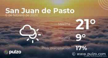 El clima para hoy en San Juan de Pasto, 6 de febrero de 2020 - Pulzo