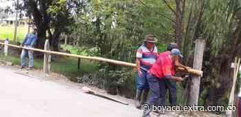 Vecinos armaron baranda para evitar accidentes en San Miguel de Sema - Extra Boyacá