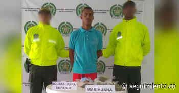Cae hombre con cerca de 300 dosis de marihuana en Zona Bananera - Seguimiento.co