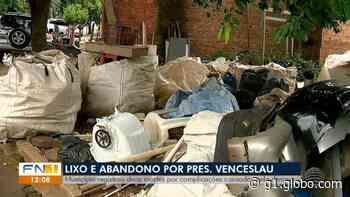 Falta de limpeza em imóveis e terrenos preocupa moradores de Presidente Venceslau - G1