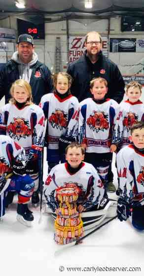 "Novice Cougars earn ""Candy Bar Cup"" at Moosomin tournament - The Observer"
