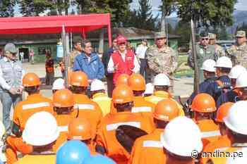 Ministro de Defensa supervisó zonas críticas de Cajabamba afectadas por lluvias - Agencia Andina