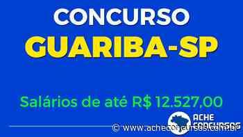 Concurso Prefeitura Guariba SP 2020 - Edital e Inscrição - Ache Concursos