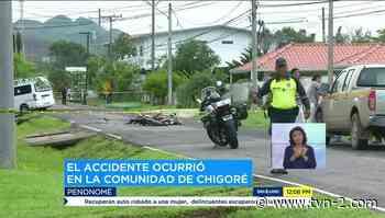 Noticias Dos personas mueren en accidente de tránsito en Chigoré - TVN Panamá