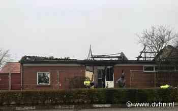 Woning in vlammen op in Drieborg - Dagblad van het Noorden