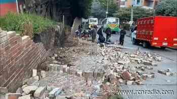 Colapso de un muro del colegio Jordán de Sajonia en Bogotá deja tres heridos - RCN Radio