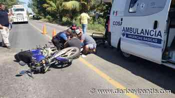 Conductor de camioneta arrolla a motociclista en Cosamaloapan - Diario Eyipantla