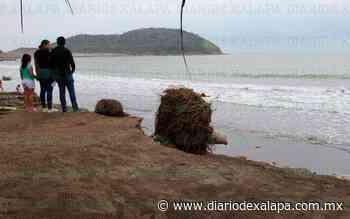 En Villa Rica el mar ya tiró negocios... ahora va por las casas - Diario de Xalapa