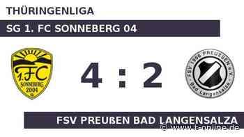 SG 1. FC Sonneberg 04 gegen FSV Preußen Bad Langensalza: Bad Langensalza hat Luft nach oben - t-online.de