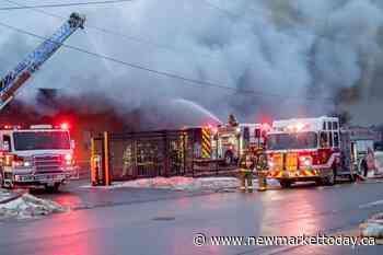 UPDATE: Crews battling industrial fire in Schomberg (4 photos) - NewmarketToday.ca